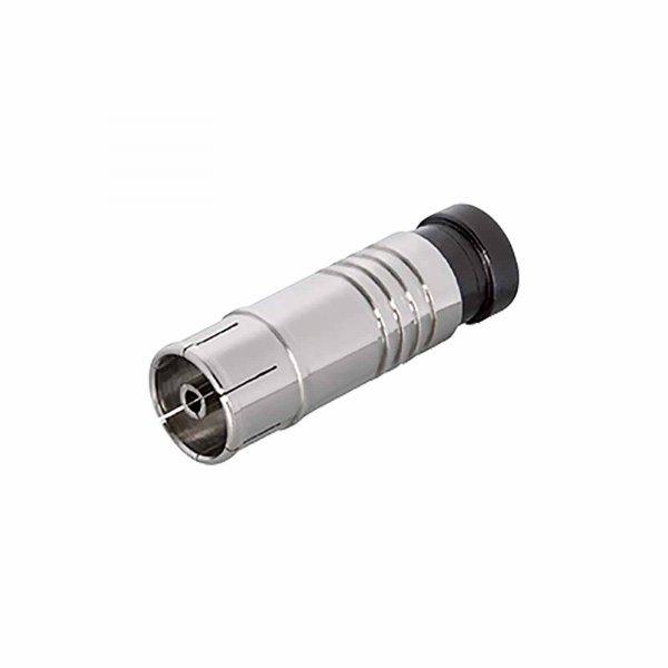 IEC Kompressionskupplung für Kabel 6,8 - 7,2 mm vernickelt