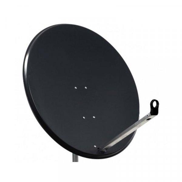 SAB Sat Spiegel Antenne 120cm STAHL Anthrazit
